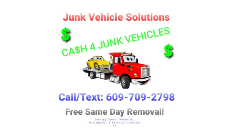 CA$H FOR JUNK VEHICLES NJ